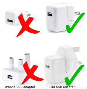Advised chargers for BLOCKS