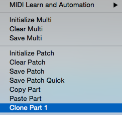 Omnisphere clone part menu
