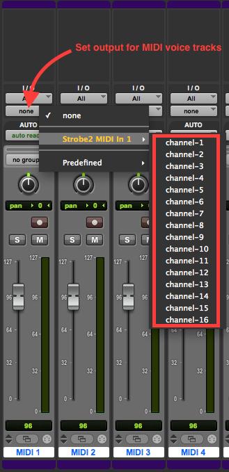 Set MIDI Outputs
