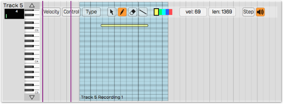 Tracktion editing note expression