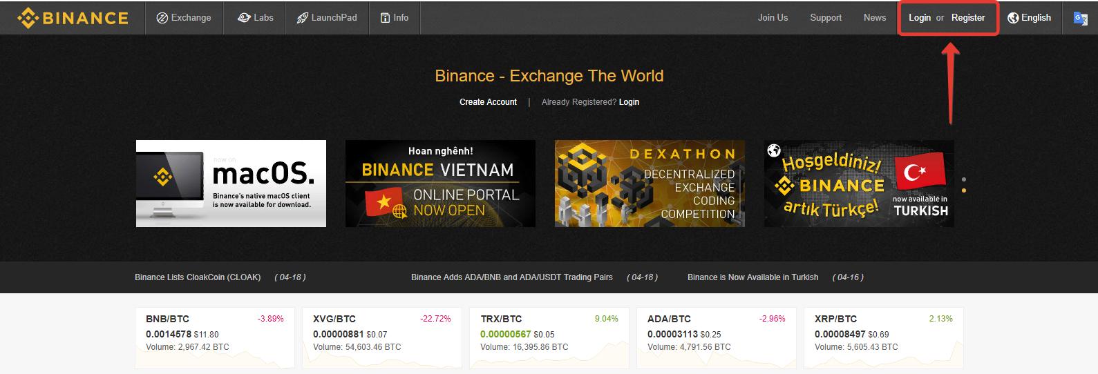 How to create API keys on Binance exchange?
