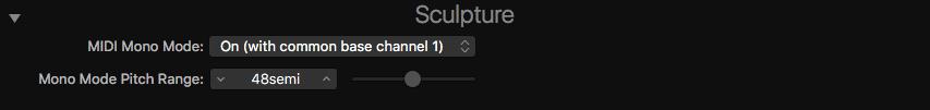 Logic MIDI Mono Mode Settings Sculptire