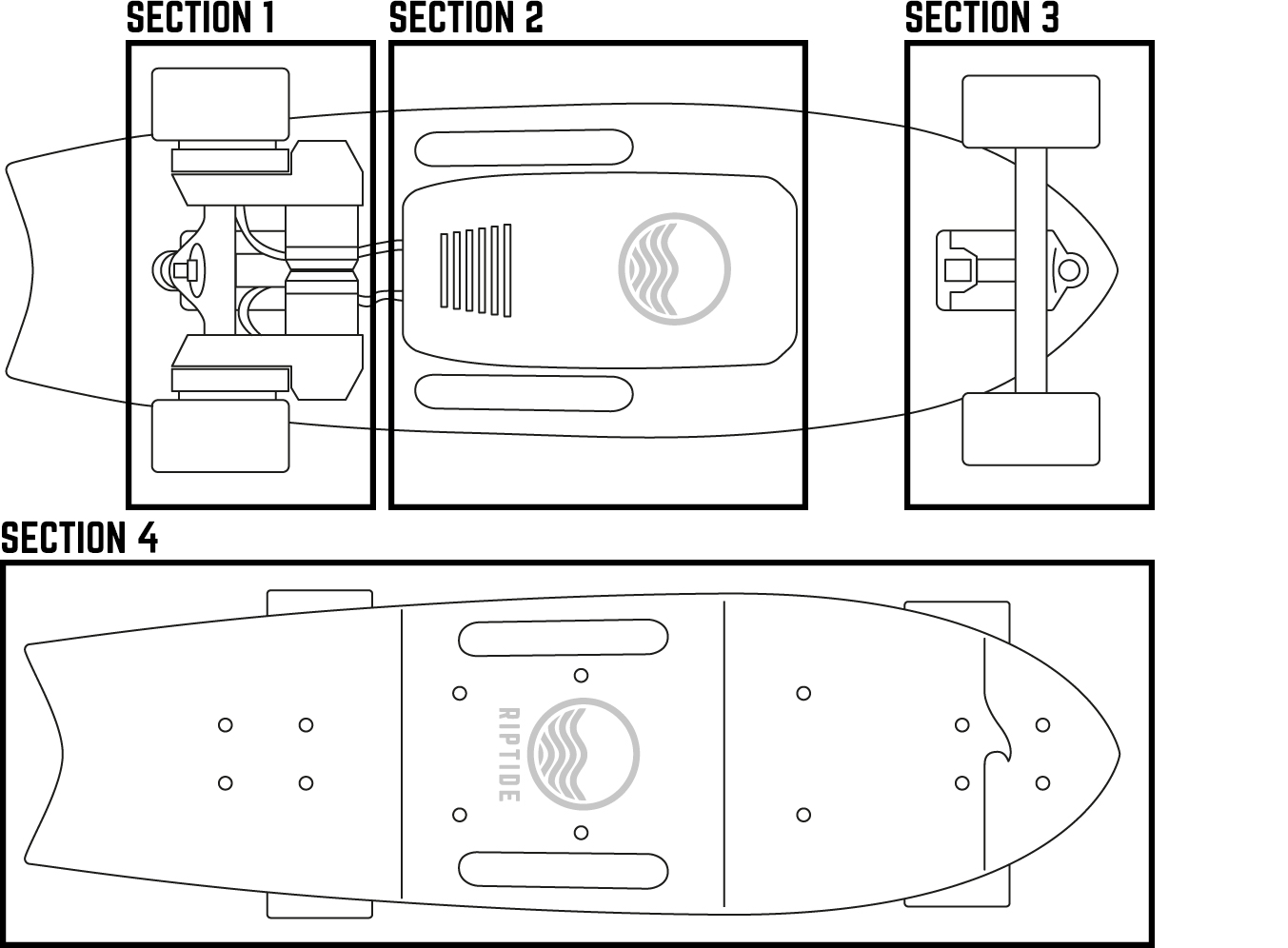 visual glossary  pictures and names of all parts   rideriptide electric skateboards