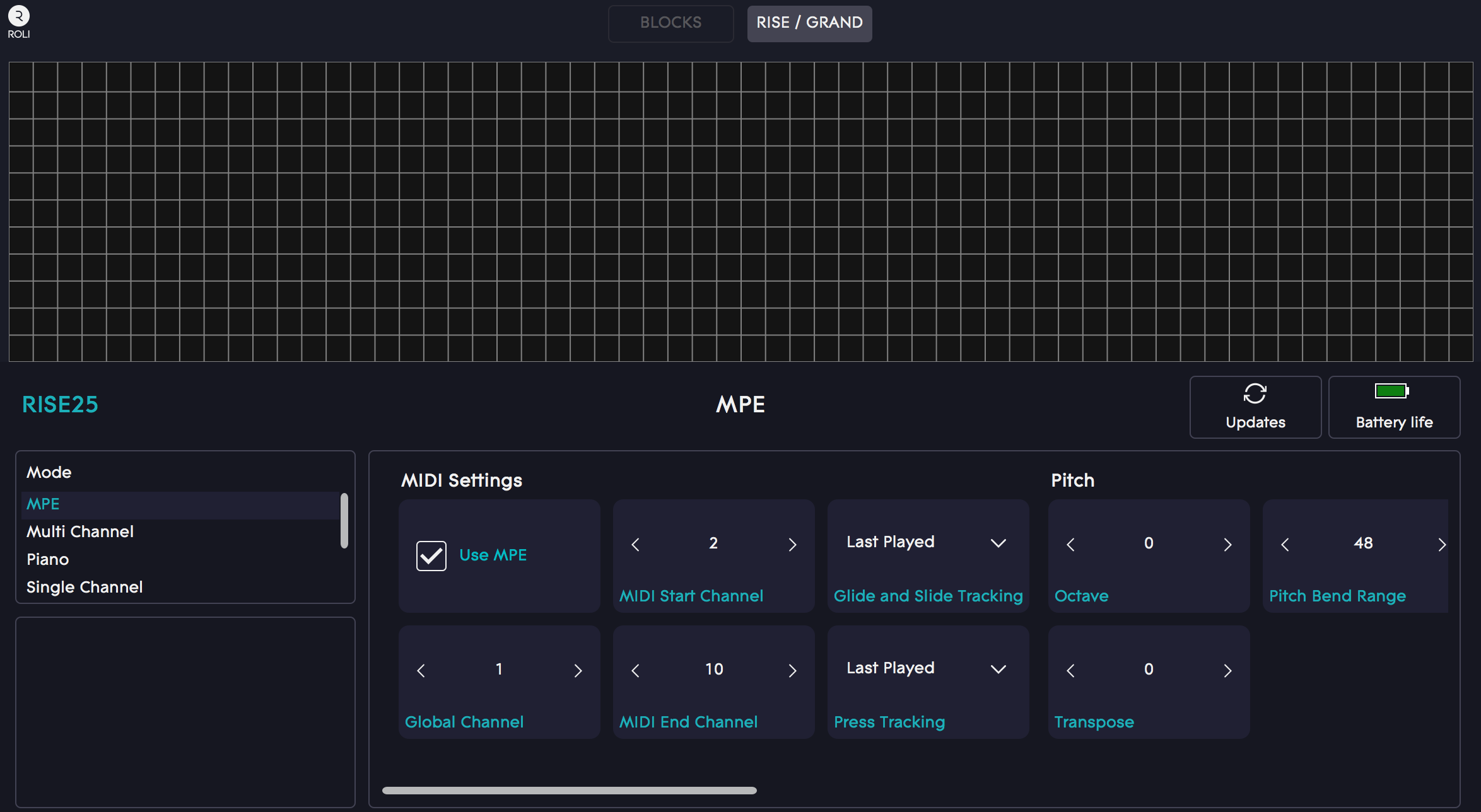 ROLI Dashboard – SynthMaster settings