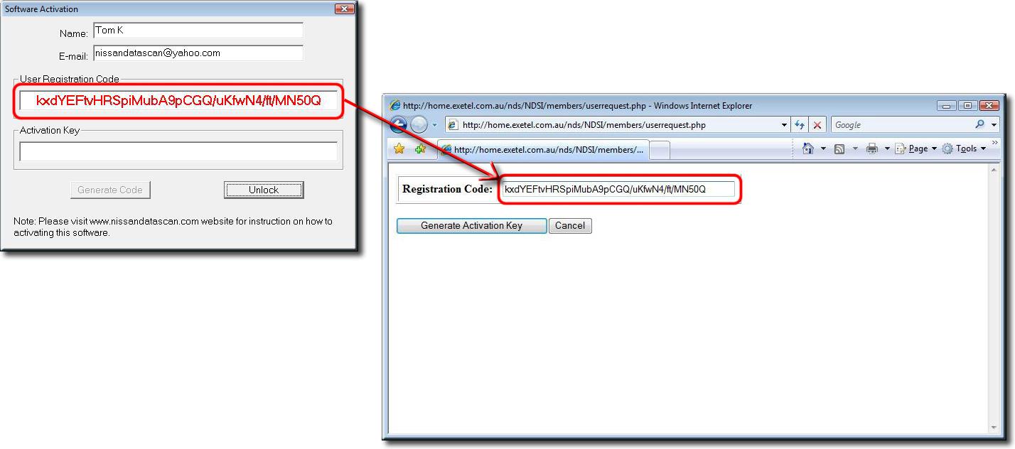 Nissan DataScan I Software Registration Instructions