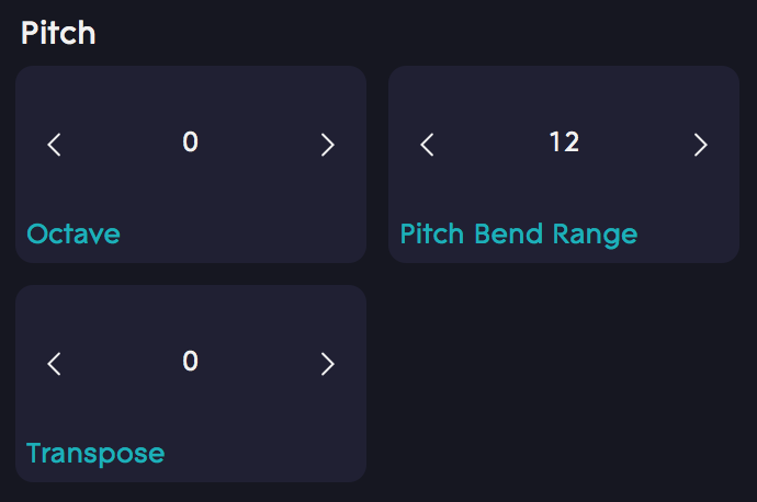 Dashboard Pitch bend range 12