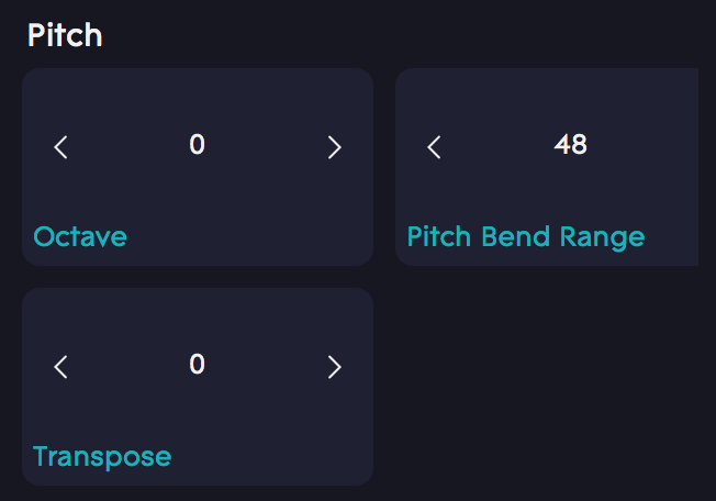 Dashboard Pitch bend range 48
