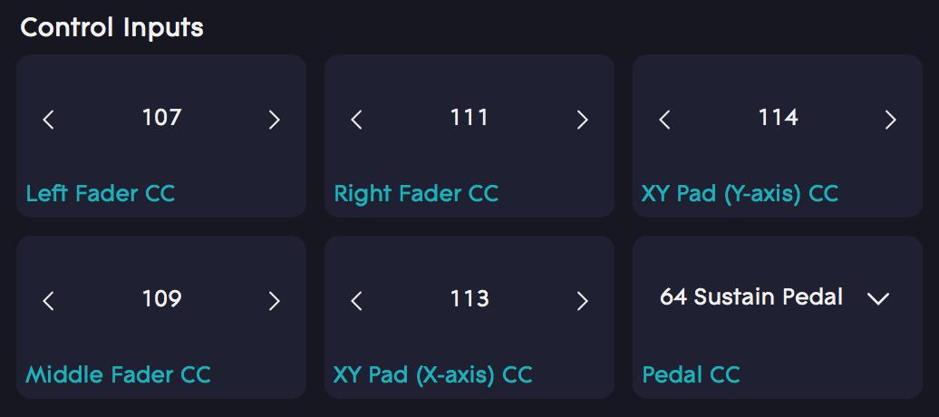 MIDI CC Mappings