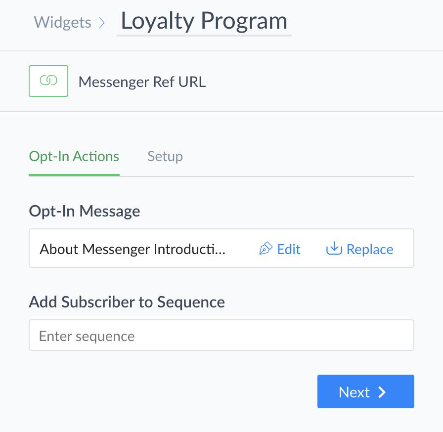 Messenger Ref URL : ManyChat