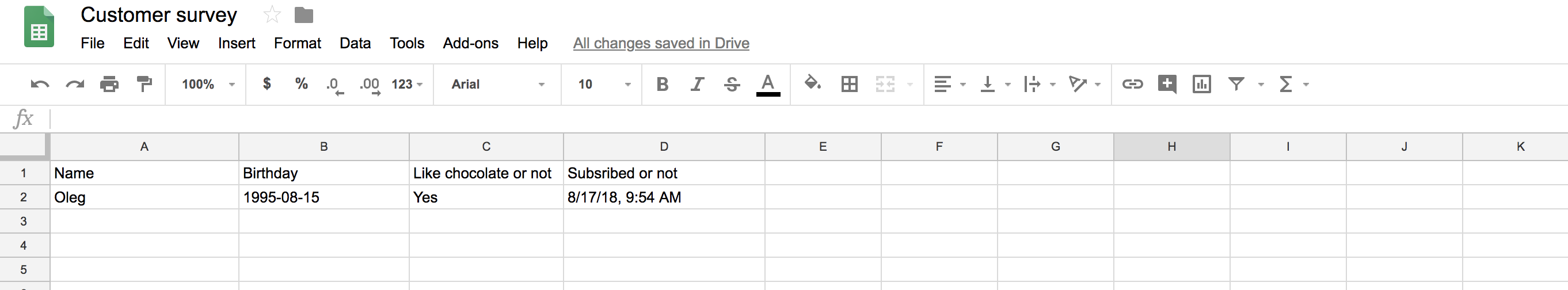 Google Sheets Integration : ManyChat