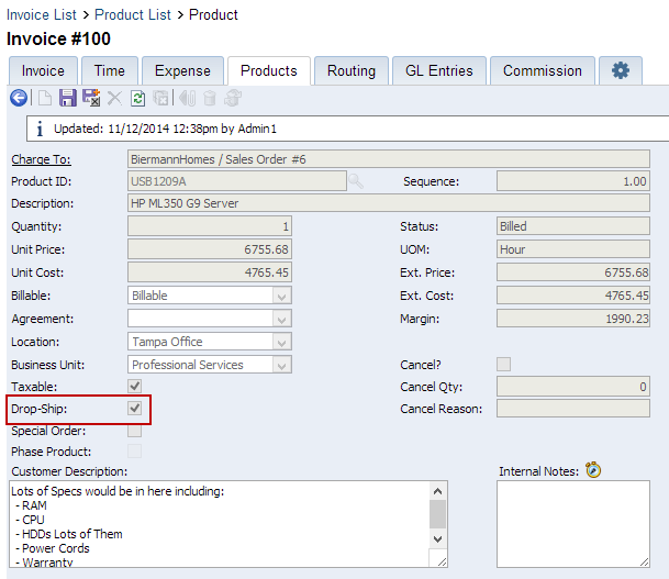 Advanced Setup Option Inventory Part Compliance Wise Sync For