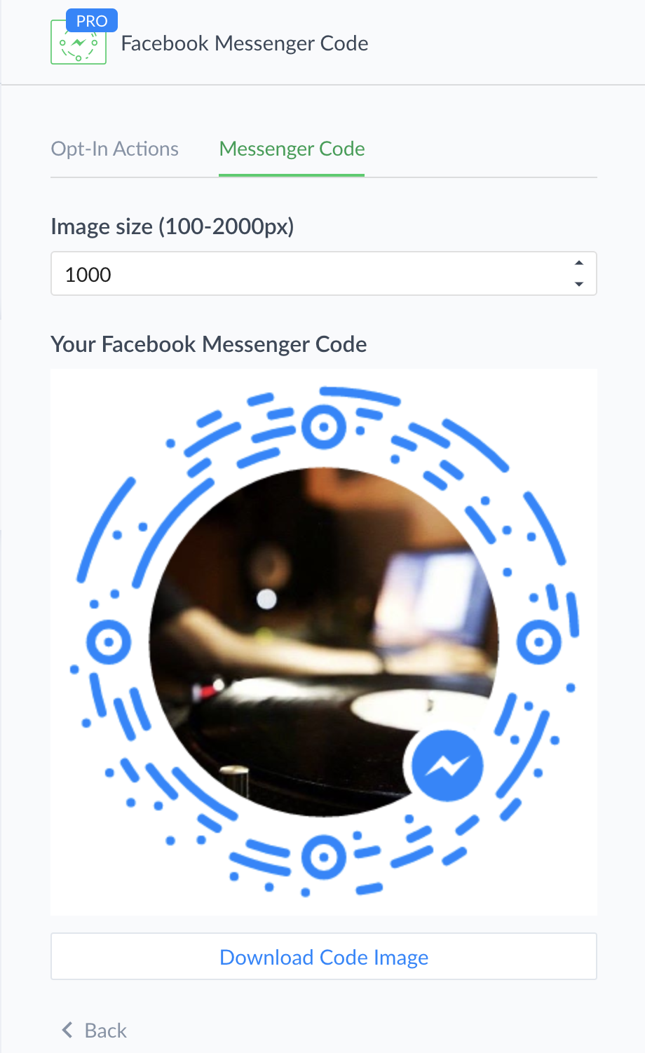 Facebook Messenger Code Growth Tool : ManyChat