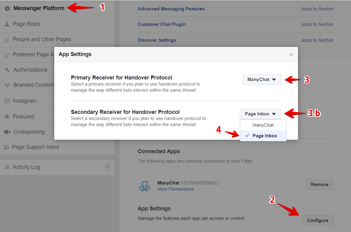 Handover Protocol : ManyChat