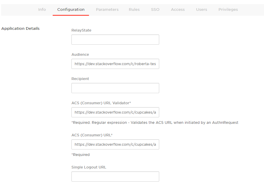 Configuring single sign-on with OneLogin : Stack Overflow for Teams