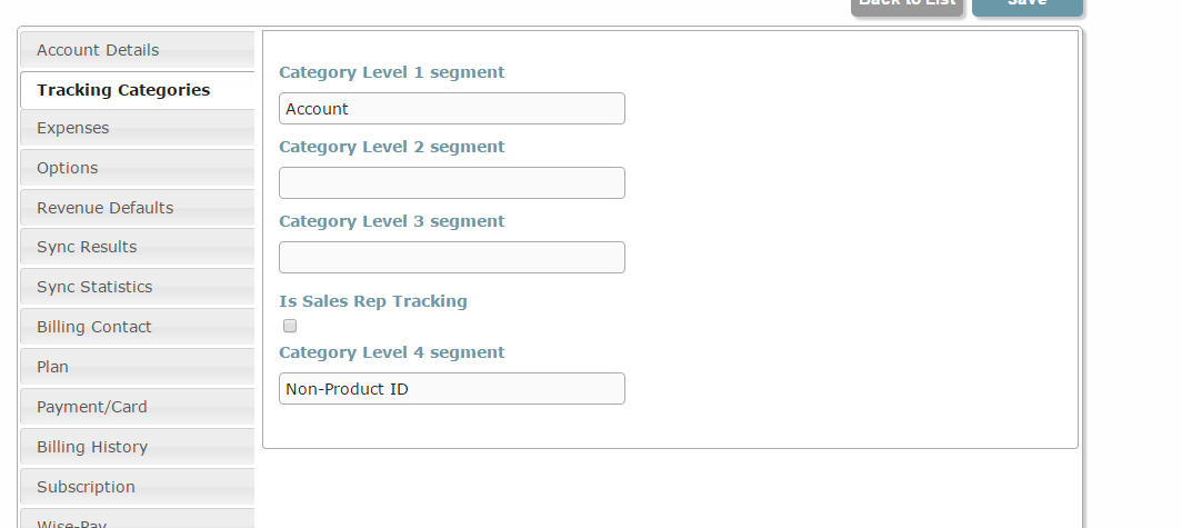 Xero Tracking for Product Category Level  : Wise-Sync for