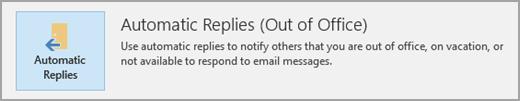 Automatic replies