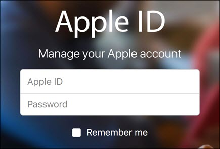 Log in with your iCloud username and password