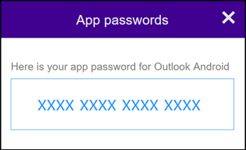 Make a note of your app password