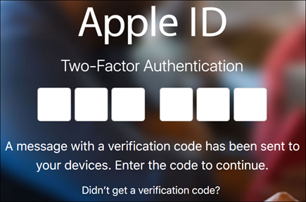 Enter your two-factor authentication code