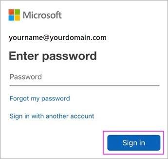 Enter your Outlook.com password