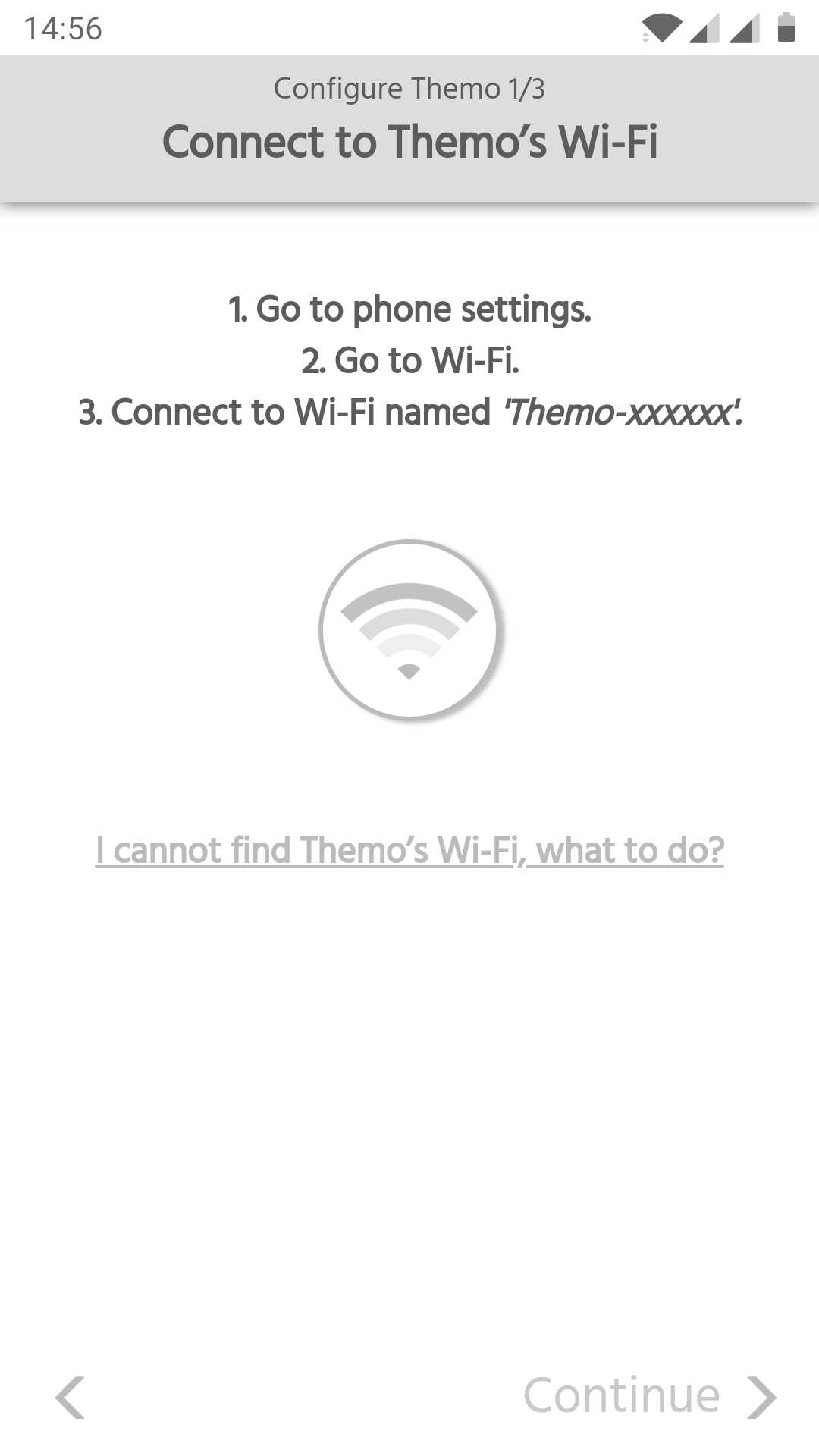 How To Connect Themo To Wi Fi Using Android Device Support