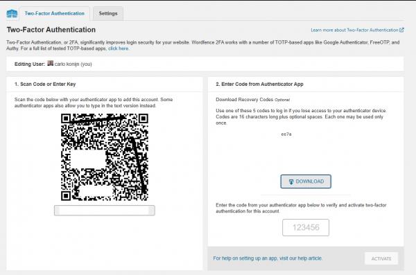 Wordfence mfa multi factor authentication