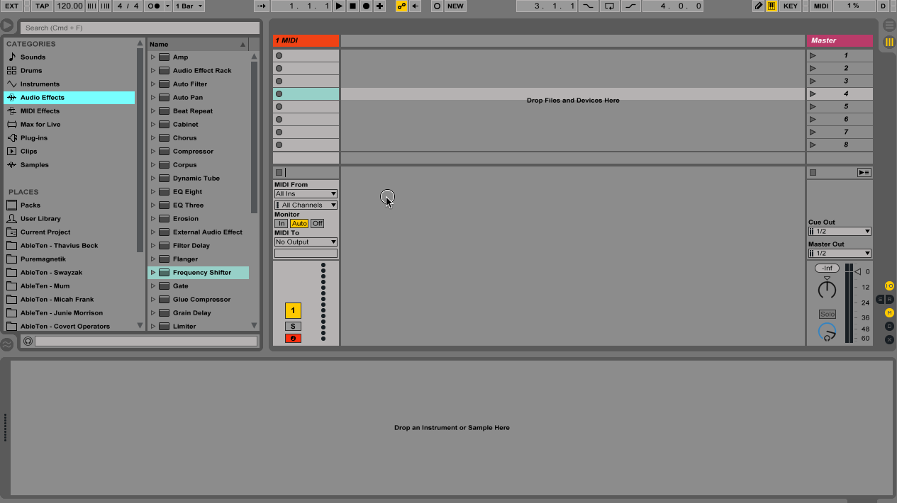 Ableton add Equator