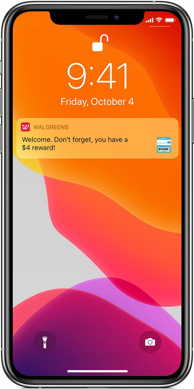 Wallet app passes notification on lock screen