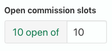 Open commission slots: 10 open of 10