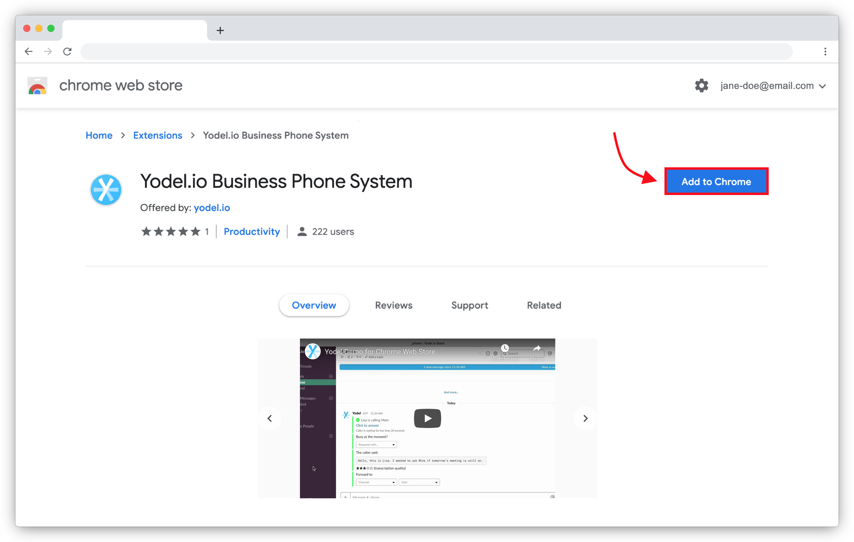 Yodel Phone System Chrome Extension