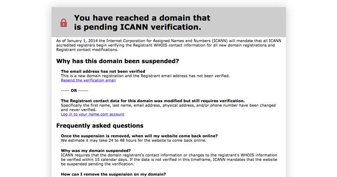 ICANN-verification