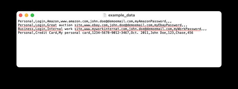 example csv data