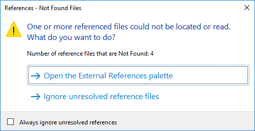 References - Not found files