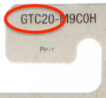 Mattel Toy Number on the back of a Hot Wheels blister card