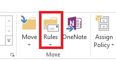 The Rules icon to click.
