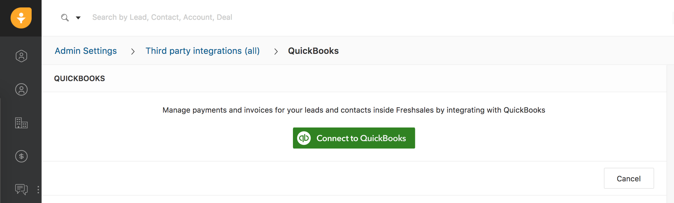 Quickbooks integration : Freshsales