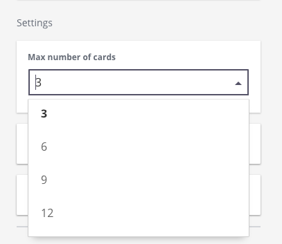 Choose number of course cards to display