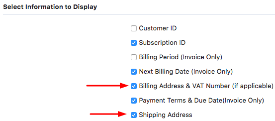 Can The Shipping And Billing Addresses Be Displayed On The Invoice - Invoice address