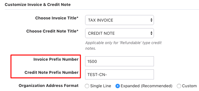 invoice numbering : chargebee help center