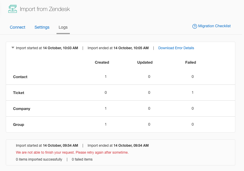 Zendesk to Freshdesk Migration : Freshdesk