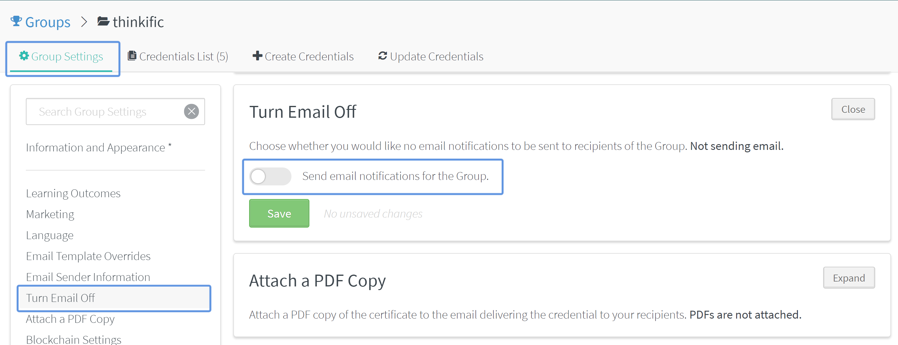 generally speaking we would recommend you deploy the certificates through thinkific so that you can customize the email template with your branding
