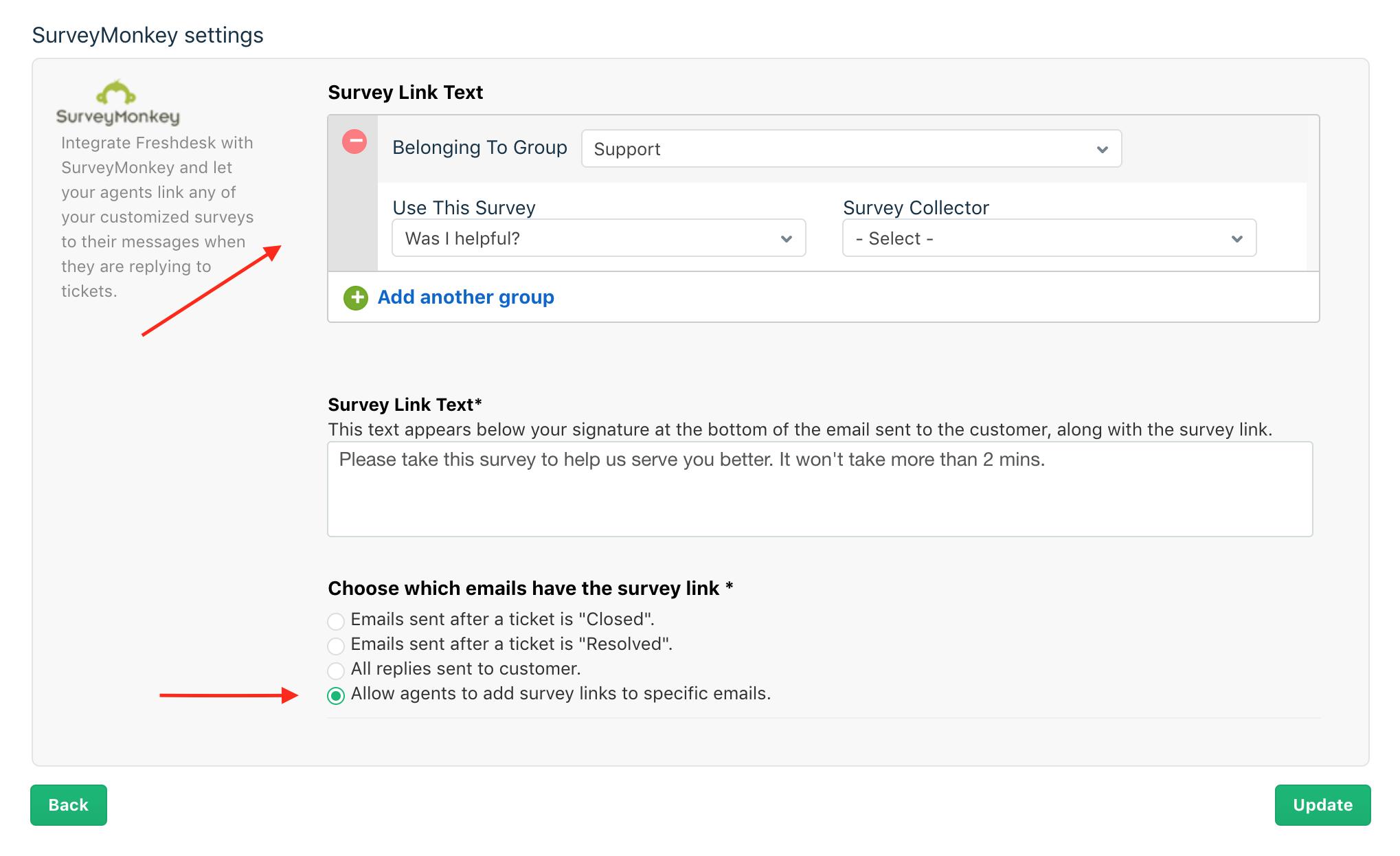 Freshdesk Integration With Surveymonkey Freshdesk