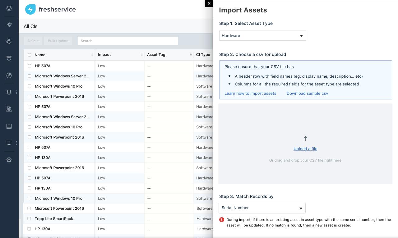 Asset Management Enhancements : freshservice
