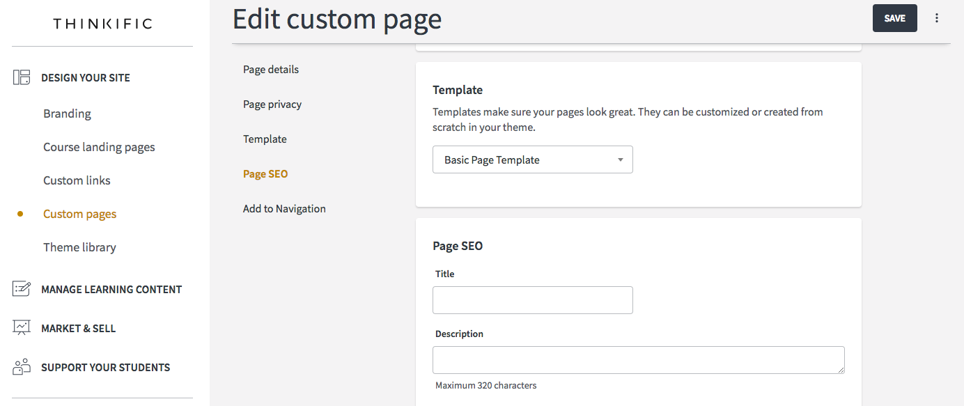 Creating A Custom Template For Your Additional Page Htmlcss