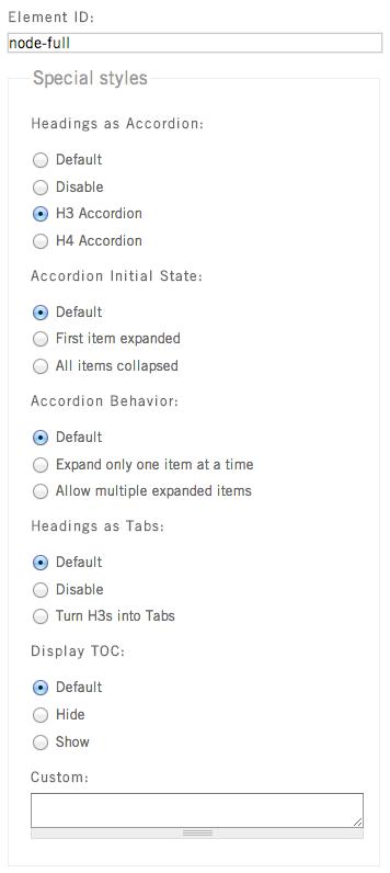 Accordion and tab behaviors on teaser : Digital Deployment