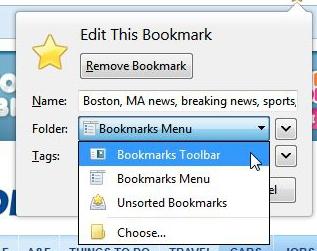Bookmarking a website in Firefox : Information Technology + eLearning