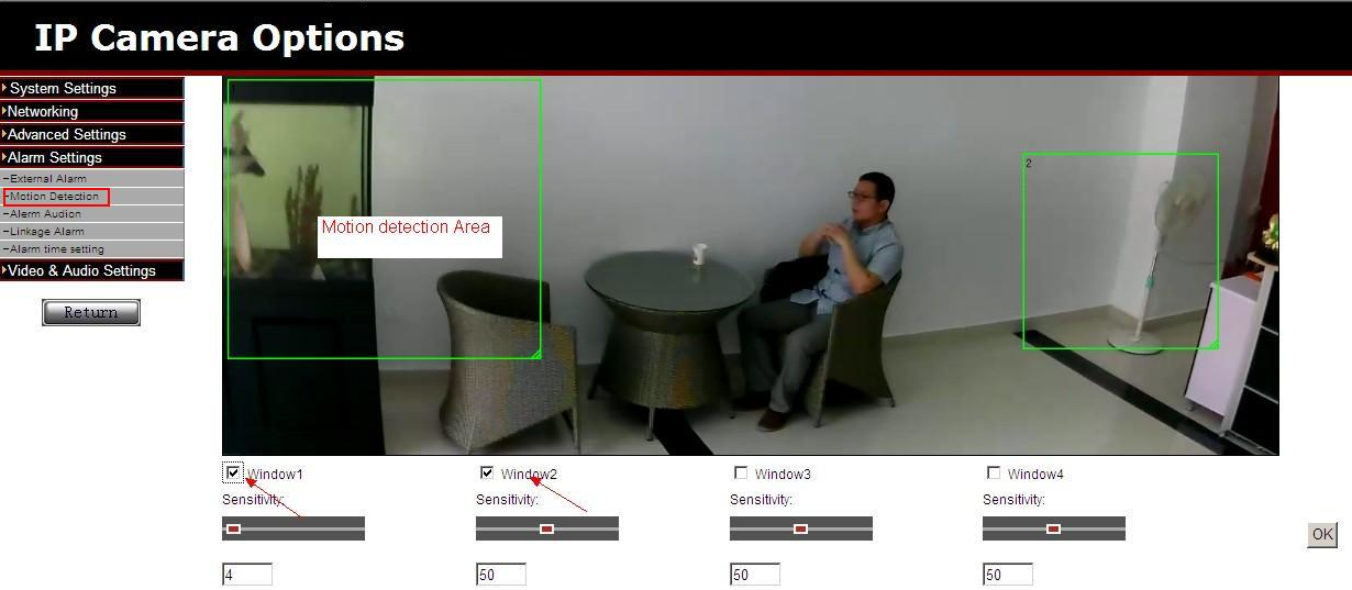 How to Setting Motion detection area EasyN HD ip camera : EasyN