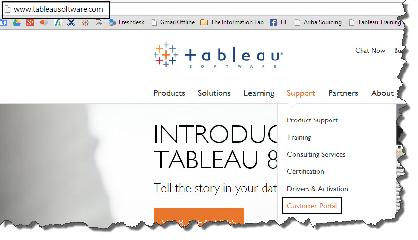 How do I access my Tableau license keys? : The Information Lab