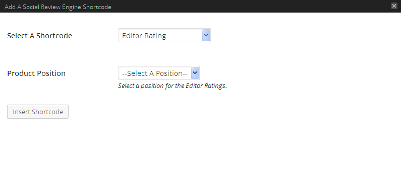 SDE Shortcode Editor Rating