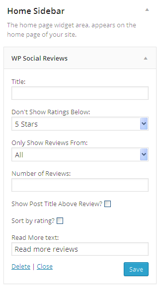 SDE Social Review Widget